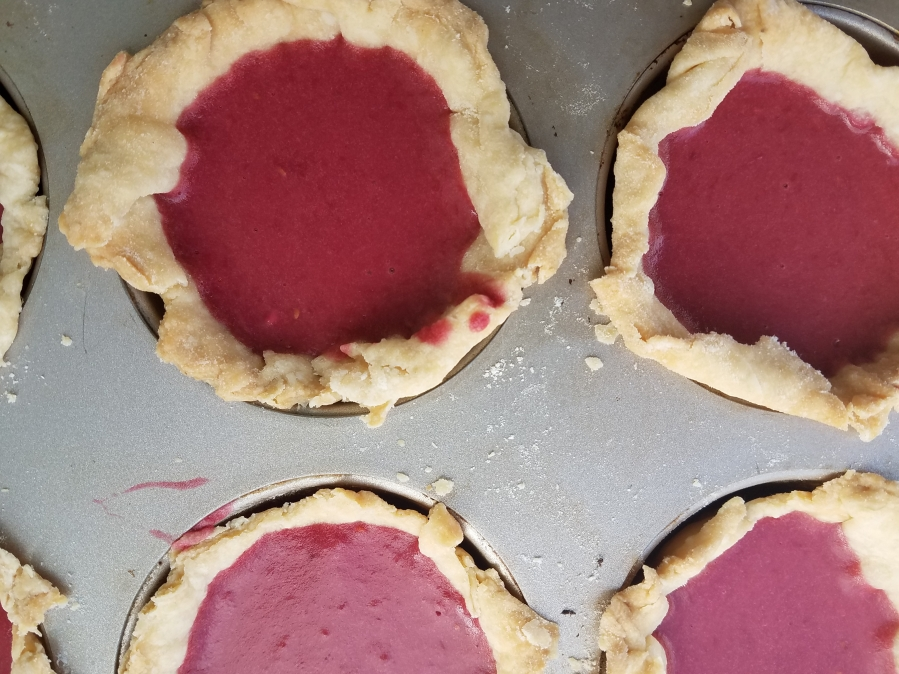 Raspberry Curd Tartlets